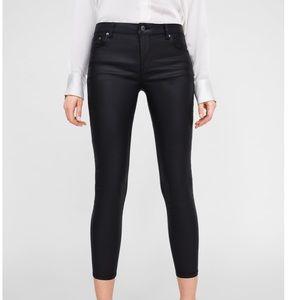 ZARA Premium Skinny Coated Jeans